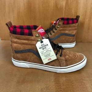 NEW Vans Sk8-Hi MTE Check Suede Glazed Skate Shoe